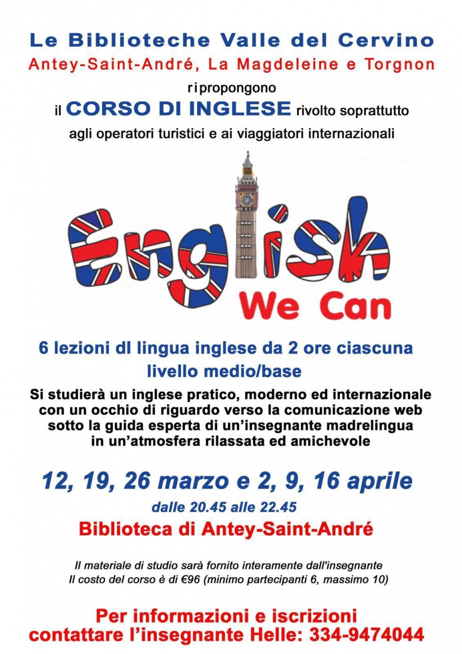 2019/04/16 CORSO DI INGLESE - ENGLISH WE CAN