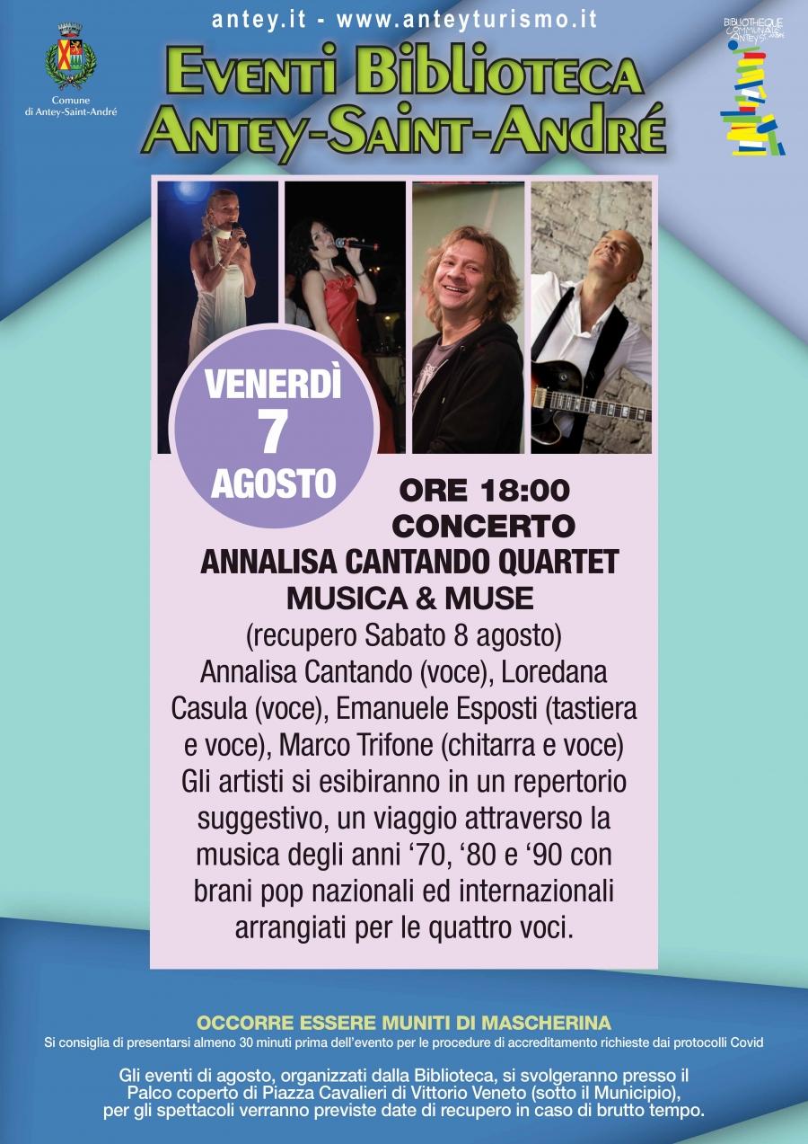 2020/08/07 ANNALISA CONCERT SINGING QUARTET