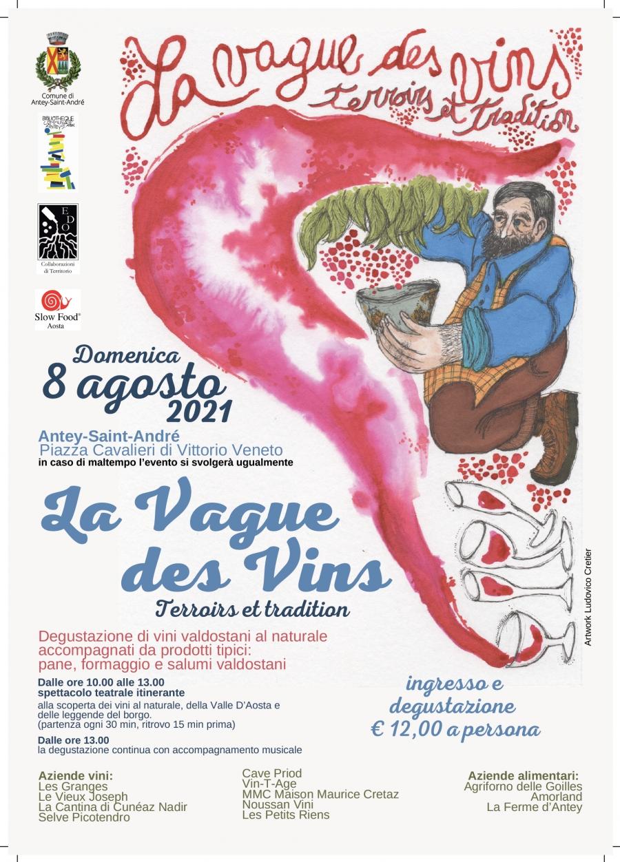 2021/08/08 LA VAGUE DES VINS - VERKOSTUNG VON WEINEN VALDOSTANI
