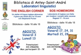 2018/08/28 Laboratori linguistici in Inglese