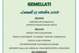 2018/10/15 GIORNATA CON GLI AMICI GEMELLATI