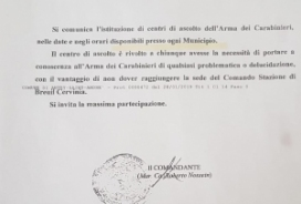 2019/04/17 CENTRO ASCOLTO DEI CARABINIERI IN MUNICIPIO