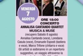 2020/08/07 CONCERTO ANNALISA CANTANDO QUARTET