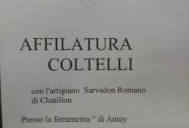 2020/10/10 PROMOZIONE AFFILATURA COLTELLI